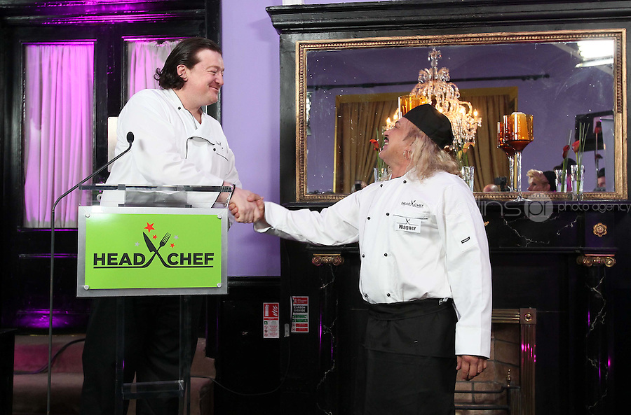 21/06/'11 Chef Conrad Gallagher of TV3's Celebrity Head Chef series pictured with contestant Wagner in his  'Dining Room' Restaurant...NO REPRODUCTION FEE PIC...Picture Colin Keegan, Collins, Dublin.