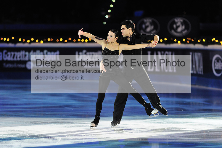 2012.01.01 Anna Cappellini Luca Lanotte exhibit at Capodanno on Ice, ice figure skating gala at Palavela in Turin, Italy<br />