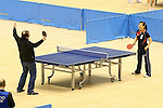 L to R) IOC Evaluation Commission menber, Ai Fukuhara, MARCH 5, 2013 : Ai Fukuhara played table tennis with IOC Evaluation Commission menber at Tokyo Metropolitan Gymnasium, Tokyo, Japan. The IOC evaluation commission, led by Reedie, began a four-day inspection of Tokyo's bid to host the 2020 Olympics. (Photo by Yusuke NakanishiAFLO SPORT)
