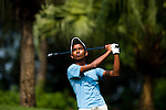 SHENZHEN, CHINA - OCTOBER 31: Rashid Khan of India tees off on the 6th hole during the day three of Asian Amateur Championship at the Mission Hills Golf Club on October 31, 2009 in Shenzhen, Guangdong, China.  (Photo by Victor Fraile/The Power of Sport Images) *** Local Caption *** Rashid Khan