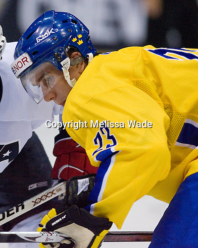 Mikael Backlund (Sweden/VIK Vasteras HK - Vasteras, Sweden) - Team Sweden defeated US Team White 4-3 (SO) the late game at the 1980 Rink in Lake Placid, New York, during the Summer Hockey Challenge on Tuesday, August 7, 2007.