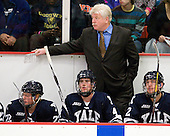 Tommy Fallen (Yale - 22), Rob O'Gara (Yale - 4), Red Gendron (Yale - Associate Head Coach), Gus Young (Yale - 2) - The Yale University Bulldogs defeated the Harvard University Crimson 5-1 on Saturday, November 3, 2012, at Bright Hockey Center in Boston, Massachusetts.