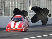 Feb 9, 2017; Pomona, CA, USA; NHRA top alcohol funny car driver Terry Ruckman during qualifying for the Winternationals at Auto Club Raceway at Pomona. Mandatory Credit: Mark J. Rebilas-USA TODAY Sports