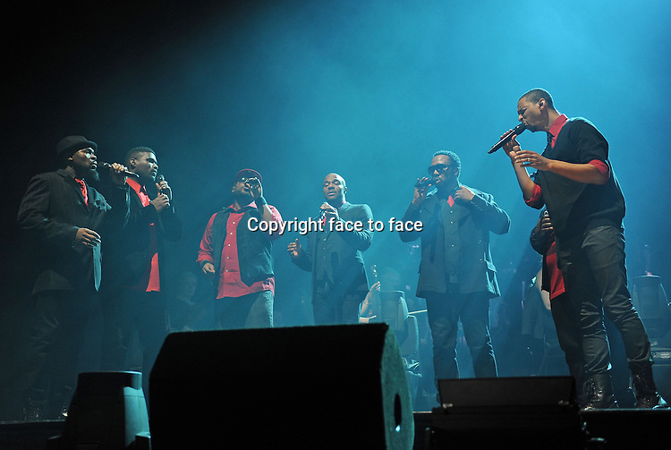 """Naturally 7 performing live at the """"Aida Night of The Proms 2012"""" in the Koenig Pilsener Arena in Oberhausen, Germany, 02.12.2012.Credit: Sport Moments/face to face"""