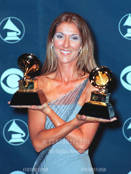 24FEB99: Singer CELINE DION at the 41st Annual Grammy Awards in Los Angeles..© Paul Smith / Featureflash