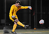 Yanni Rigos #1, Chaminade goalie, kicks a ball upfield during the Nassau-Suffolk CHSAA varsity boys soccer championship against St. Anthony's at Adelphi University on Sunday, Nov. 6, 2016.