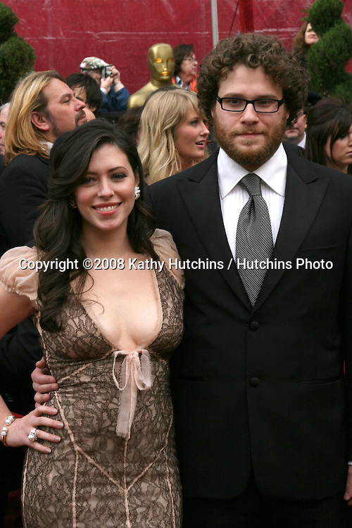 Seth Rogan & date.80th Academy Awards ( Oscars).Kodak Theater.Los Angeles, CA.February 24, 2008.©2008 Kathy Hutchins / Hutchins Photo.