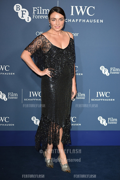 LONDON, UK. October 09, 2018: Lois Winstone arriving for the 2018 IWC Schaffhausen Gala Dinner in Honour of the BFI at the Electric Light Station, London.<br /> Picture: Steve Vas/Featureflash