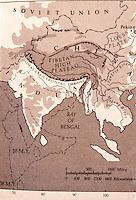 World Civilization:  Geological Map--India, Tibet and China--35 million years. Van Slyke, YANGTZE.