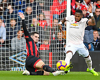 Lewis Cook of AFC Bournemouth left tackles Fred of Manchester United during AFC Bournemouth vs Manchester United, Premier League Football at the Vitality Stadium on 3rd November 2018