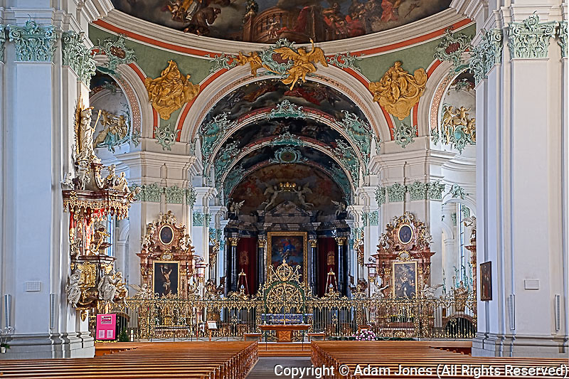 Details of church interior, Switzerland