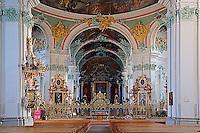 Details of church interior, Switzerland