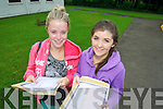 Pictured at Pres Secondary Tralee on Wednesday, from left: Clodagh Higgins and Ciara Horgan..
