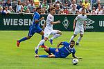 13.07.2019, Parkstadion, Zell am Ziller, AUT, FSP, Werder Bremen vs. Darmstadt 98<br /> <br /> im Bild / picture shows <br /> <br /> Yuya Osako (Werder Bremen #08)<br /> Victor Pálsson (Darmstadt 98 #<br /> Foto © nordphoto / Kokenge