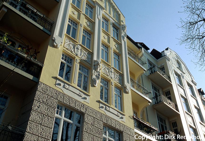 Deutschland, Wohnhäuser in Hamburg-Eppendorf