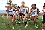 November 1, 2014; Sunnyvale, CA, USA; Loyola Marymount Lions women's cross country team during the WCC Cross Country Championships at Baylands Park.
