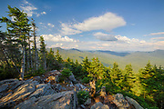 August 2015 - View from Mount Tecumseh in Waterville Valley, New Hampshire during the month of August. Illegal tree cutting, which is considered vandalism to National Forest land, has improved this viewpoint.