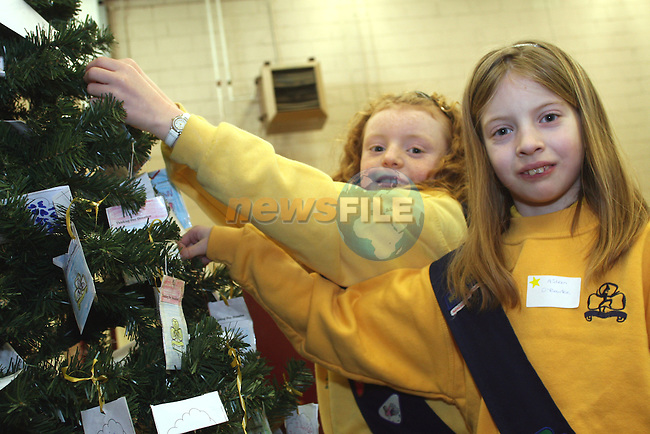"""Brownees Ellen Campbell and Aideen O'Rourke at the """"Thinking Day"""" in St Oliver's School..Photo NEWSFILE/Jenny Matthews.(Photo credit should read Jenny Matthews/NEWSFILE)....This Picture has been sent you under the condtions enclosed by:.Newsfile Ltd..The Studio,.Millmount Abbey,.Drogheda,.Co Meath..Ireland..Tel: +353(0)41-9871240.Fax: +353(0)41-9871260.GSM: +353(0)86-2500958.email: pictures@newsfile.ie.www.newsfile.ie.FTP: 193.120.102.198."""