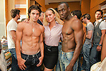 Staff poses with models at the Domenico Vacca Denim Launch Party presented by Models International on July 14, 2010.