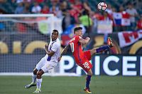 Action photo during the match Chile vs Panama, Corresponding to Group -D- America Cup Centenary 2016 at Lincoln Financial Field.<br /> <br /> Foto de accion durante el partido Chile vs Panama, Correspondiente al Grupo -D- de la Copa America Centenario 2016 en el  Lincoln Financial Field, en la foto: (i-d) Roberto Nurse de Panama y Charles Aranguiz de Chile<br /> <br /> <br /> 14/06/2016/MEXSPORT/Javier Ramirez.