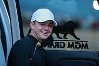 Apr. 5, 2013; Las Vegas, NV, USA: NHRA top fuel dragster driver Steve Torrence during qualifying for the Summitracing.com Nationals at the Strip at Las Vegas Motor Speedway. Mandatory Credit: Mark J. Rebilas-