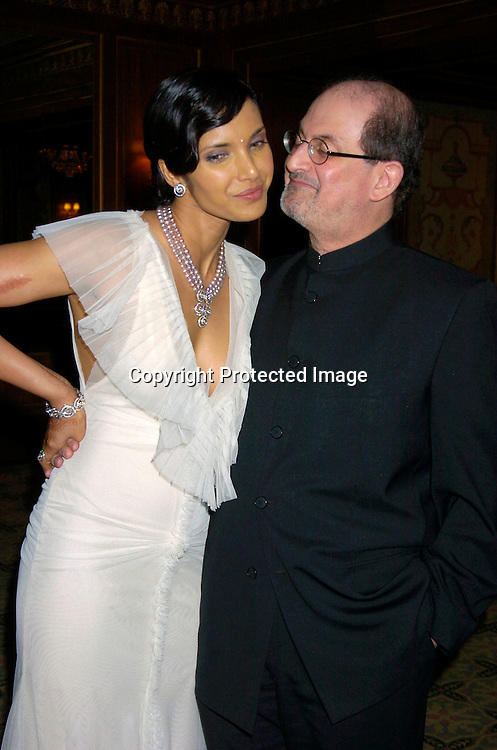 Padma Lakshmi and husband Salman Rushdie ..at the 2004 Pen Literary Dinner and the Presentation of Free Expression Awards  on April 20, 2004 at The ..Pierre Hotel in New York City. ..Photo by Robin Platzer, Twin Images