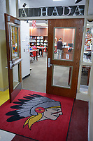 USA, Nebraska, Stadt Macy, Omaha Reservation, Schule