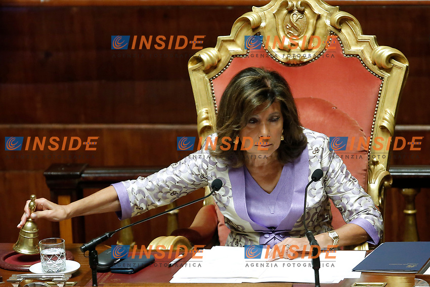 Elisabetta Alberti Casellati, president of the Senate<br /> Roma 12/09/2018. Senato. Informativa sulla Nave Diciotti<br /> Rome September 12th 2018. Senate. Speech of the Italian Premier about the Diciotti ship, carrying 177 migrants, rejected by Italy.<br /> Foto Samantha Zucchi Insidefoto