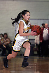 Palos Verdes, CA January 19, 2010 - Lindsey Sugimoto (25) in action during the Palos Verdes vs Peninsula Panthers basketball game at Peninsula High School.