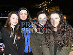 Miley Byrne, Rachel Smith, Jessica Donnelly and Sophie Battersby at the fireworks display at Scotch Hall. Photo:Colin Bell/pressphotos.ie
