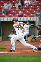 Cedar Rapids Kernels designated hitter Daniel Kihle (7) during the first game of a doubleheader against the Kane County Cougars on May 10, 2016 at Perfect Game Field in Cedar Rapids, Iowa.  Kane County defeated Cedar Rapids 2-0.  (Mike Janes/Four Seam Images)