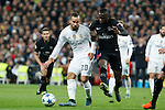 Real Madrid´s Jese Rodriguez (L) and Paris Saint-Germain´s Blaise Matuidi during Champions League soccer match between Real Madrid  and Paris Saint Germain at Santiago Bernabeu stadium in Madrid, Spain. November 03, 2015. (ALTERPHOTOS/Victor Blanco)