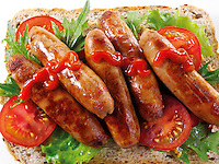 British Food - Sausage Sandwich