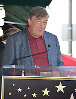 LOS ANGELES, CA. October 25, 2016: Stephen Fry at the Hollywood Walk of Fame star ceremony honoring British actor Hugh Laurie.<br /> Picture: Paul Smith/Featureflash/SilverHub 0208 004 5359/ 07711 972644 Editors@silverhubmedia.com