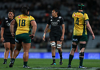 Jackie Patea-Fereti during the Laurie O'Reilly Memorial Trophy international women's rugby match between the New Zealand Black Ferns and Australia Wallaroos at Eden Park in Auckland, New Zealand on Saturday 25 August 2018. Photo: Simon Watts / lintottphoto.co.nz
