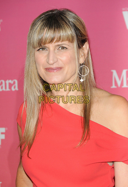 CATHERINE HARDWICKE .at The Women in Film 2009 Crystal .and Lucy Awards held at The Hyatt Regency Century Plaza in Century City, California, USA, June 12th 2009                                                                     .portrait headshot fringe red one shoulder  ear earring silver hoop .CAP/DVS.©Debbie VanStory/RockinExposures/Capital Pictures
