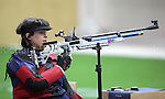 Paralympics London 2012 - ParalympicsGB - Shooting Womens R2-10m Air Rifle Standing - SH1 Heats 30th August 2012.  .Karen Butler competing in the Womens R2-10m Air Rifle Standing - SH1 Heats at the Paralympic Games in London. Photo: Richard Washbrooke/ParalympicsGB