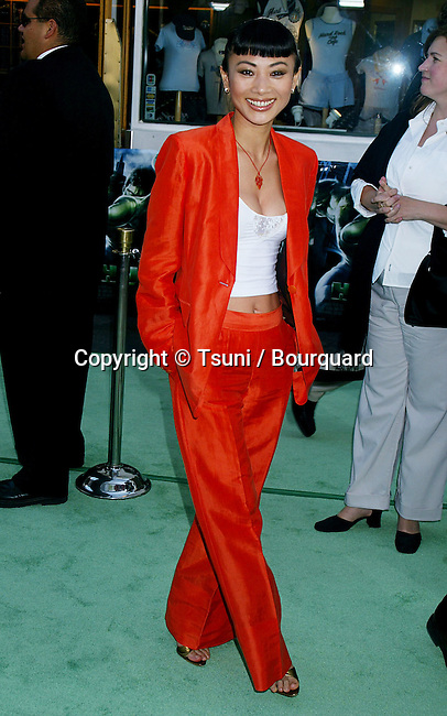 Bai Ling arriving at the Premiere of Hulk at the Universal Amphitheatre in Los Angeles. June 17, 2003.