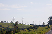 Pouso Alegre_MG, Brasil...Torre de transmissao proximo a BR-381 em Pouso Alegre...Transmission tower next to BR-381 in Pouso Alegre...Foto: LEO DRUMOND / NITRO.....