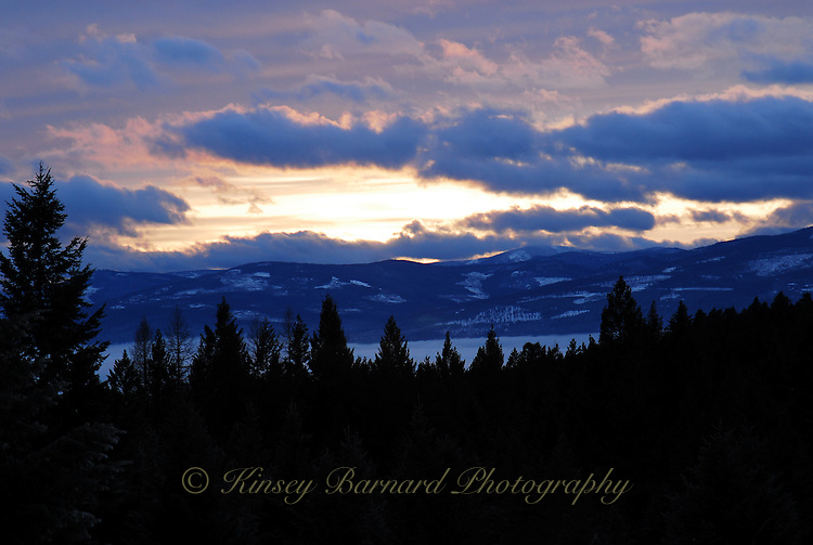 Winter sunsets