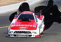 Jul. 27, 2013; Sonoma, CA, USA: NHRA funny car driver Bob Tasca III during qualifying for the Sonoma Nationals at Sonoma Raceway. Mandatory Credit: Mark J. Rebilas-