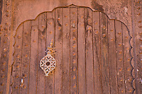 Doorway detail inside Ait Ben Haddou