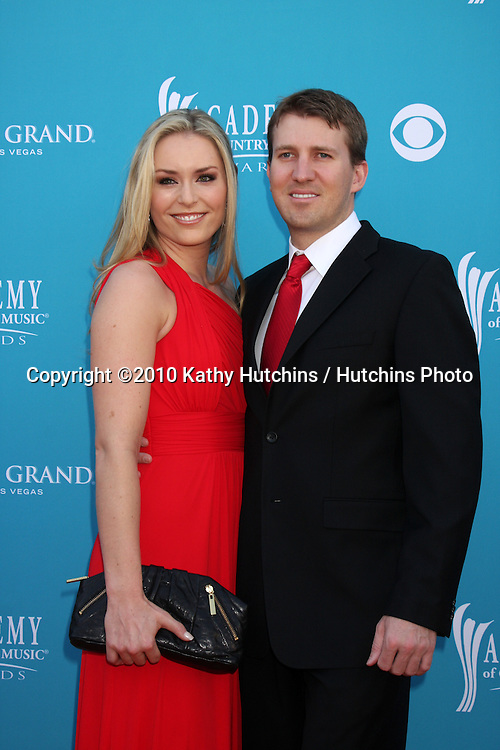 Lindsey Vonn & husband.at the Academy Of Country Music Awards 2010.MGM Grand Arena.Las Vegas, NV.April 18, 2010.©2010 Kathy Hutchins / Hutchins Photo....