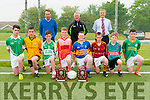 North Kerry U/14 Super 10's: Pictured at Duagh GAA club on Friday evening last to announce the upcoming North Kerry U/14 Super 10's football competition were in front Cian McGrath, Jamie McFeigh, Darragh Keane, Dan Connolly, Timmy Dillon, Kiliian Buckley, Mark Hennessy & Jacob Lucey. Back : Larry O'Connor, Sponsor, John Dillon & Riobard Pierse, sponsor.