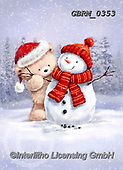 Roger, CHRISTMAS ANIMALS, WEIHNACHTEN TIERE, NAVIDAD ANIMALES, paintings+++++,GBRM0353,#XA#