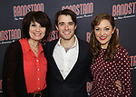 Beth Leavel, Corey Cott and Laura Osnes attends the 'Bandstand' Broadway cast photo call at the Rainbow Room on March 7, 2017 in New York City.
