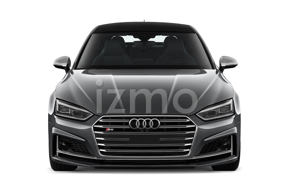Car photography straight front view of a 2018 Audi S5 Sportback Base 5 Door Hatchback