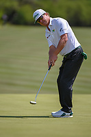 Charley Hoffman (USA) watches his putt on 8 during Round 1 of the Valero Texas Open, AT&amp;T Oaks Course, TPC San Antonio, San Antonio, Texas, USA. 4/19/2018.<br /> Picture: Golffile | Ken Murray<br /> <br /> <br /> All photo usage must carry mandatory copyright credit (&copy; Golffile | Ken Murray)