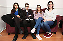 Siobhan McLaughlin (rigth) sits with her 3 out her 4 children Rebecca, Billy and Lisa. Siobhan is bringing a case to the supreme court about the rights of unmarried widows. Photo/Paul McErlane