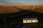 A caravan house in the unauthorized Israeli outpost of Asa'el, south of Hebron, West Bank.